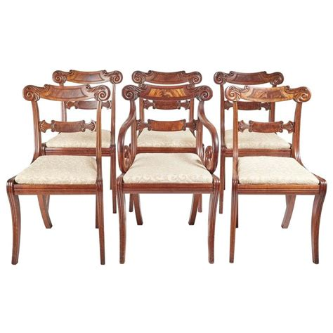 Regency Dining Room Chairs Set Of Six Regency Dining Chairs For Sale At 1stdibs