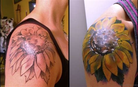 shoulder sunflower tattoo 71 stunning sunflower tattoos on shoulder