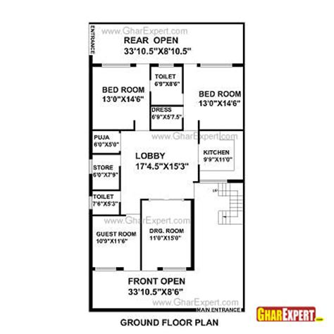 home design for 20x50 plot size house plan for 29 feet by 69 feet plot plot size 222