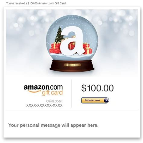 Amazon Gift Card Products - amazon gift card e mail holiday snow globe