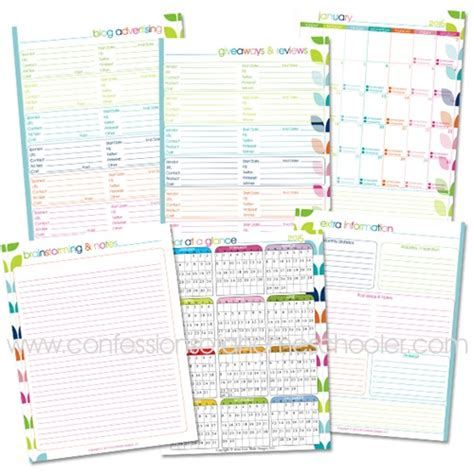 free printable blog planner pages free printable blog planners