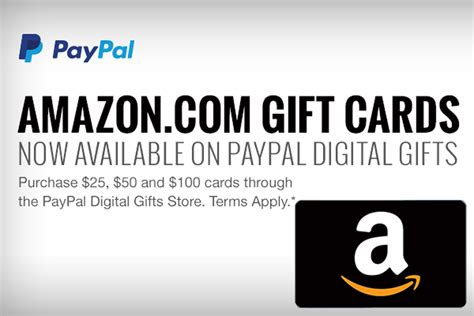 Amazon Gift Card Pay With Paypal - you can now buy amazon com gift cards from paypal tamebay