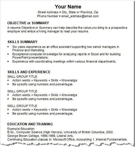 objective or summary skills summary skills and