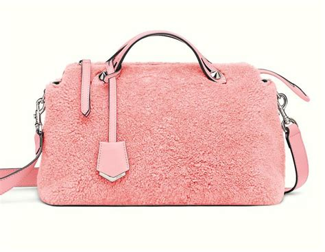 Versace Ostrich Sted Small Metallic Boston Purse by Fendi Small By The Way Boston Bag Gum Pink
