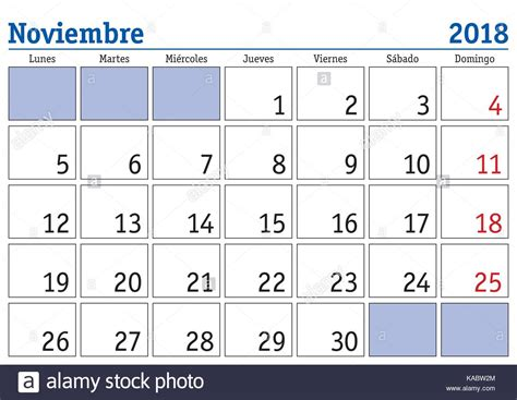 Calendario Noviembre 2018 November Month In A Year 2018 Wall Calendar In