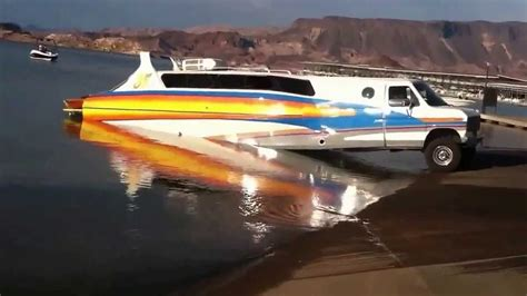 boat made into car limousine turns into a boat youtube