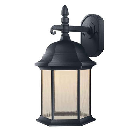 Outdoor Light Home Depot Hton Bay Oxford Exterior Led Decorative Light 17 5 In The Home Depot Canada