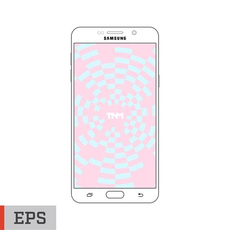 android layout vector vector mockup eps template for samsung galaxy note 5
