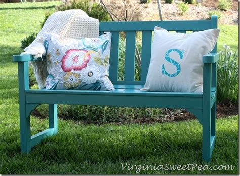 colorful bench garden bench makeover sweet pea