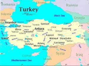 Turkey On A World Map around the world turkey