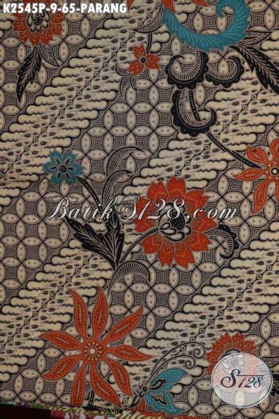 Kain Batik Kombinasi Motif Parang Bunga kain batik klasik motif parang bunga batik halus proses printing bahan kemeja lengan pendek
