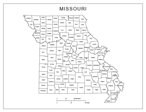 map of us states coloring page missouri labeled map