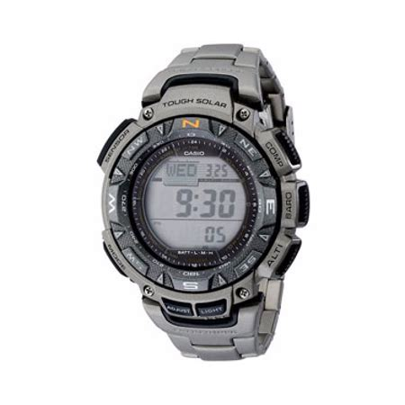 Casio Sea Pathfinder Not Gshock casio sensor solar pathfinder mens titanium