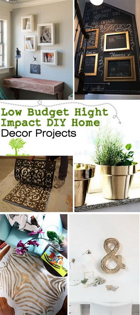 Diy Home Decor Ideas Budget by Low Budget Hight Impact Diy Home Decor Projects