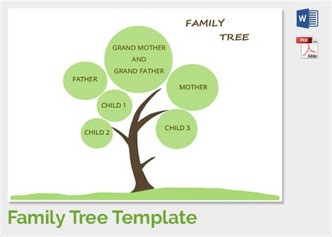 Template Family Tree Sle Family Tree Chart Template 17 Documents In Pdf