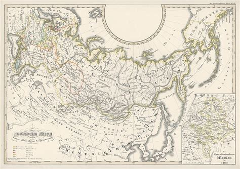 russian empire map and antique prints and maps