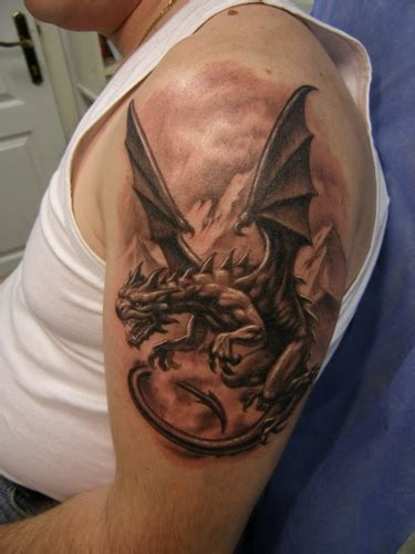 dragon tattoo images shoulder angry tattoos