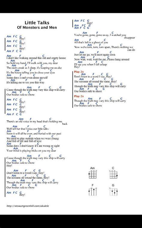 ukulele tutorial you and i little talks of monsters and men ukulele chords