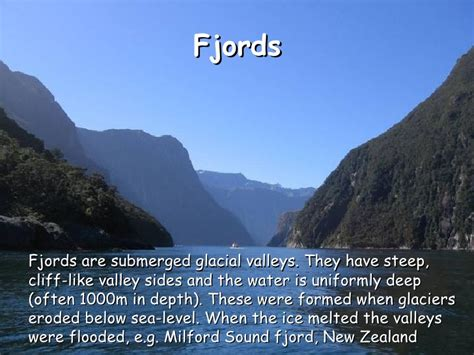 fjord definition geography sea level change as