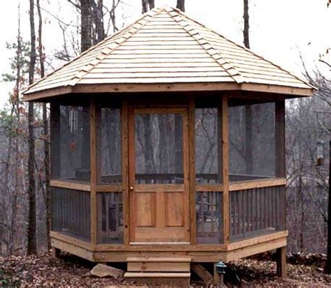 screened in gazebo used as an outdoor getaway smart