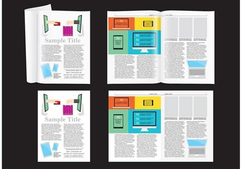 free layout magazine e shop magazine layout vector download free vector art