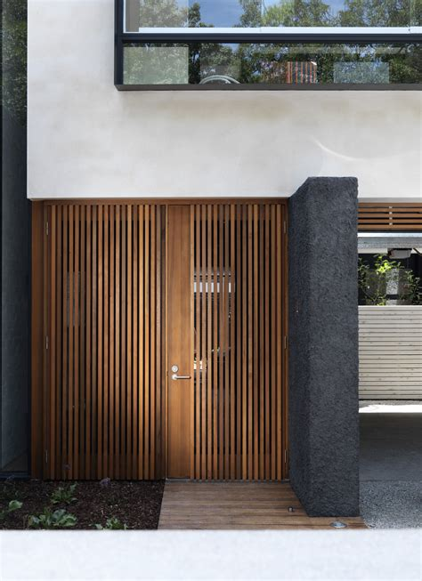 Wood Slat by Door Designs 40 Modern Doors Perfect For Every Home Architecture Beast