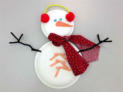 Paper Plate Snowman Craft - snowman storytime sturdy for common things
