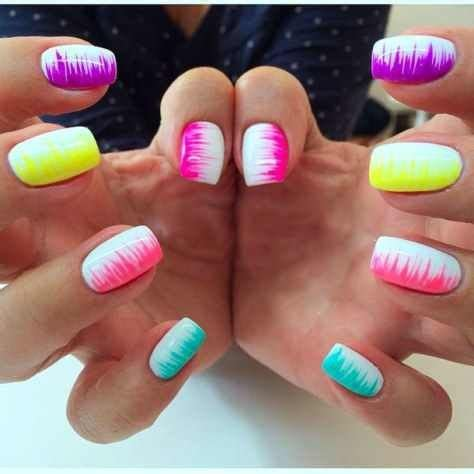 Gel Nagel Ideeën by Best 25 Neon Nails Ideas On Nails Summer
