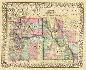 oregon idaho map state maps oregon washington idaho montana or wa