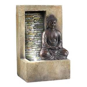 Ore international 10 quot h buddha tabletop fountain stone white ft 1199