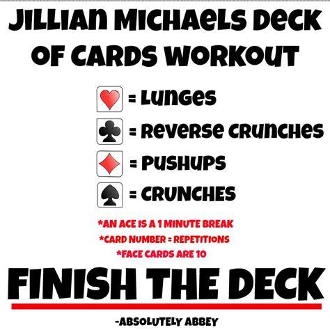 workout wednesday jillian deck of cards workout