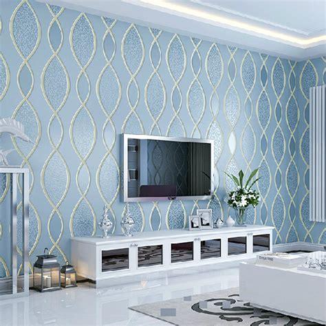 blue wallpaper living room blue living room wallpaper modern house