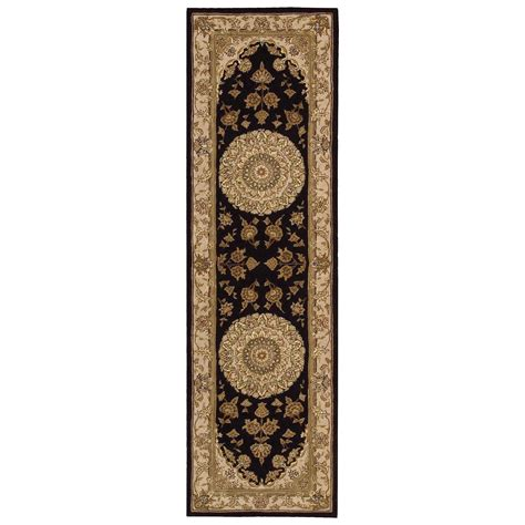 2 X 8 Runner Rugs Nourison Nourison 2000 2 3 Quot X 8 Black Runner Rug Fashion Furniture Rugs