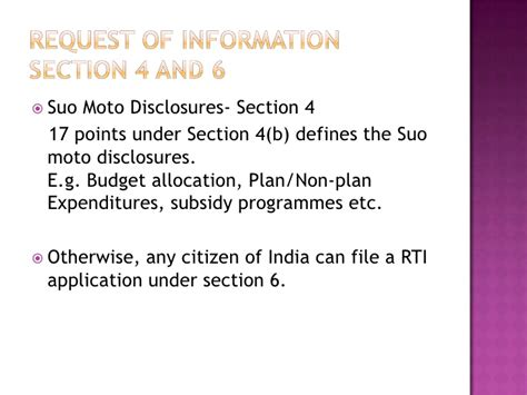 rti section 8 how to file a rti application