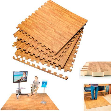 Mat Wood by Interlocking Wood Effect Mats Soft Foam Exercise Floor