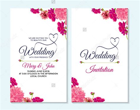 Wedding Card Eps by Wedding Card Template 91 Free Printable Word Pdf Psd