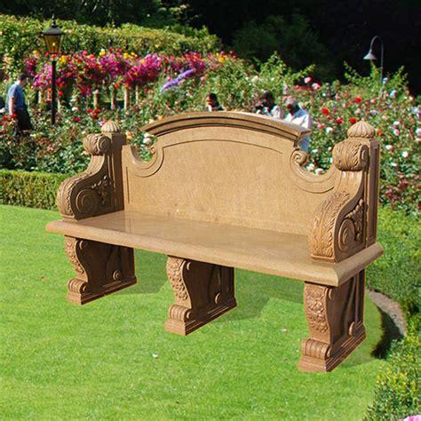 stone garden bench with back stone garden bench seat vincentaa sculpture