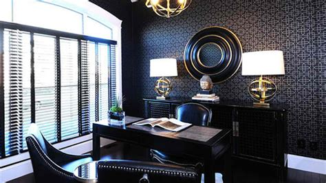 Black Livingroom Furniture stunning wallpapers in 20 home office and study spaces
