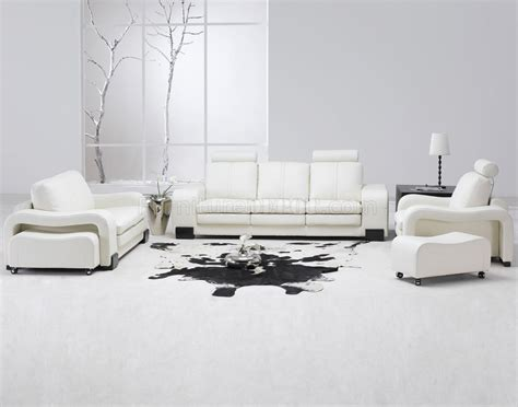 white couch set white leather 4pc modern sofa loveseat chair couch