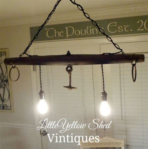 Equestrian Lighting Fixtures Repurposed An Antique Yoke Into A Lighting Fixture Using Edison Bulbs Check It Out At