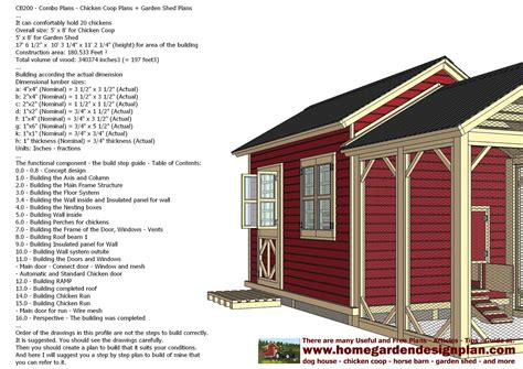 Storage Shed Plans Pdf by Shed Plans Building Cb200 Combo Plans Chicken Coop Plans