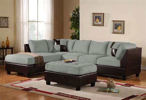 grey microsuede sectional contemporary 3pc grey sectional sofa microsuede reversible