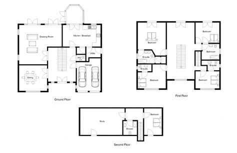 ground floor plan drawing in ground house plans numberedtype