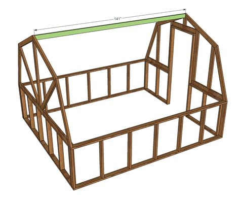 2x4 Bed Frame Plans Yia Looking For How To Build Trusses For A Barn