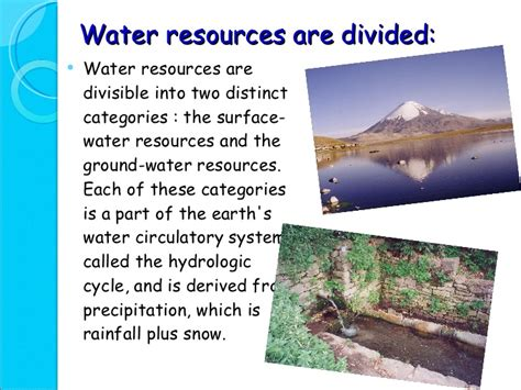 Water Resources Essay by Essay On Water Resources