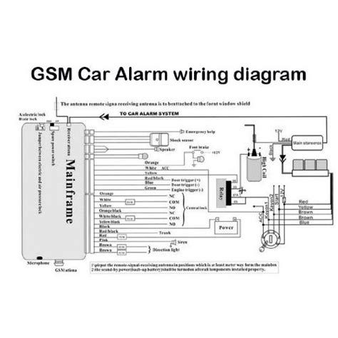 car alarm wiring diagrams color and install