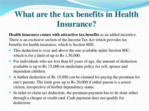 section 80d 01 section 80d tax benefits health or mediclaim insurance