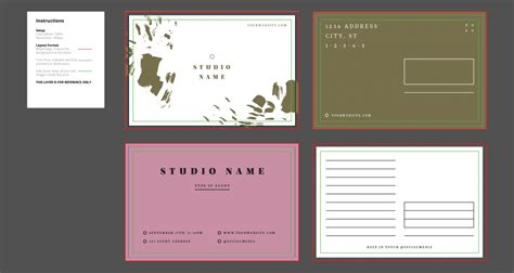 New Adobe Illustrator Cc Print Design Templates Primoprint Blog Adobe Postcard Template