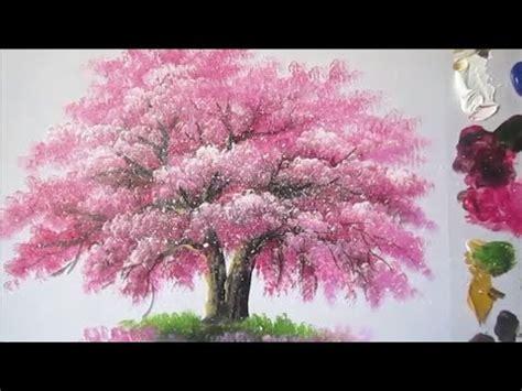 cara membuat lukisan abstrak cara membuat lukisan pohon sakura youtube