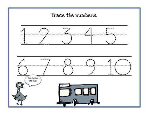 printable number tracing worksheets number trace worksheets for kids activity shelter